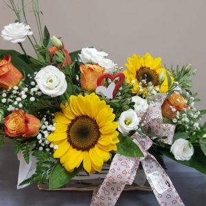 cesto-fiori-girasole