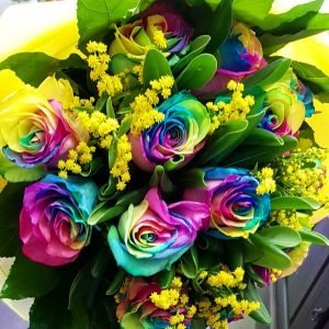 bouquet-rose-arcobaleno