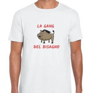 t-shirt bianca la gang del bisagno