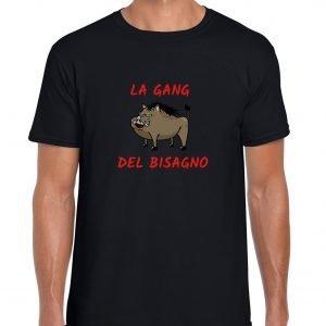 t-shirt nera la gang del bisagno