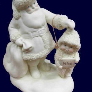 babbo natale in porcellana con bimbo