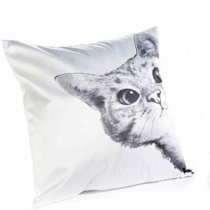 cuscino gatto bianco